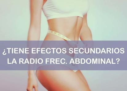 radiofrecuencia abdominal efectos secundarios